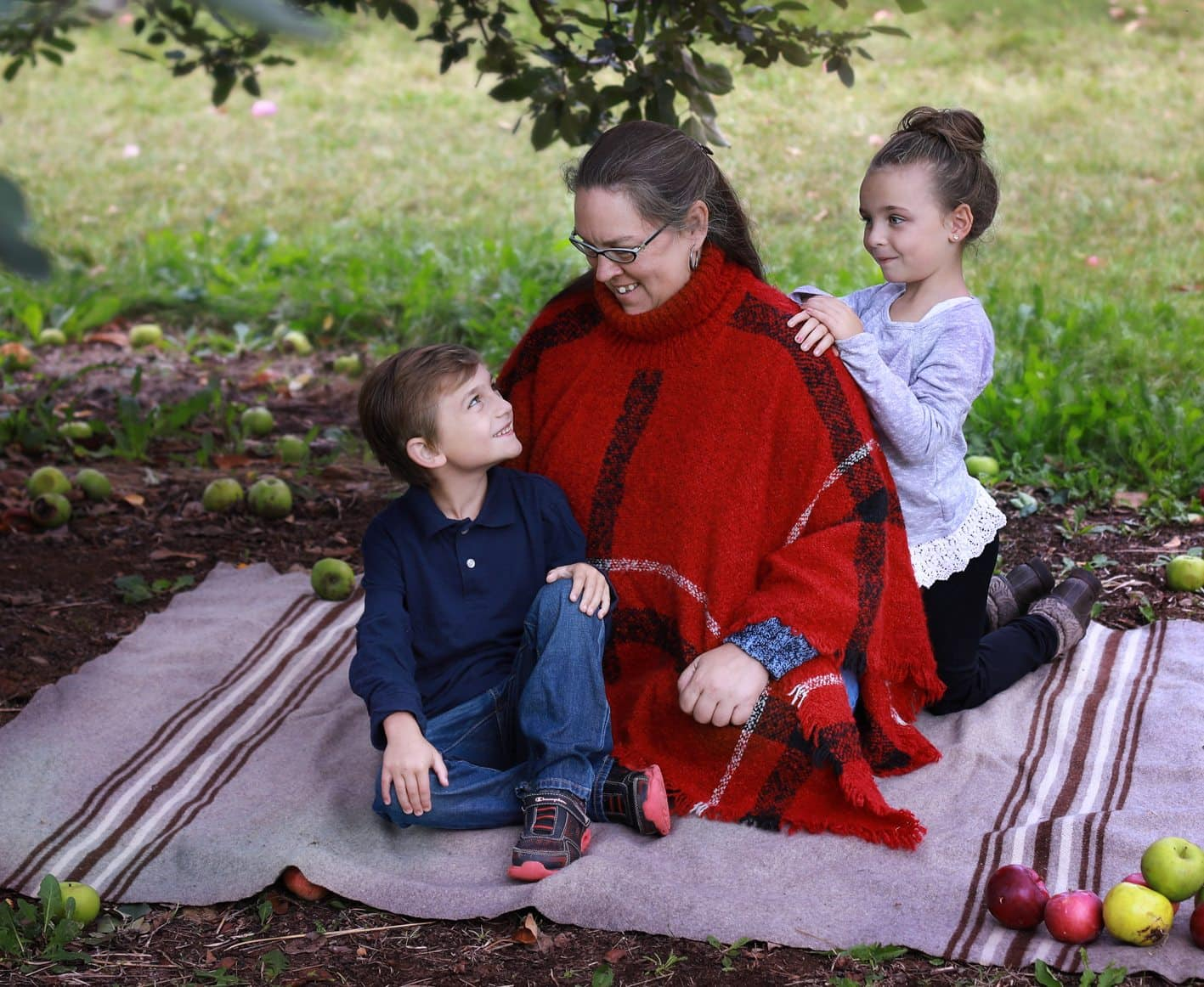 Central Maine Children's Photography -Apple Orchard Session