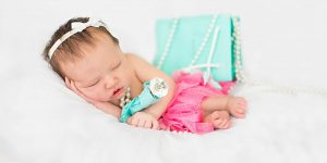 Newborn session with props