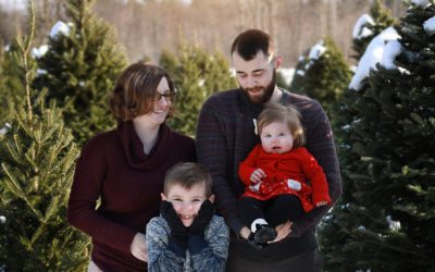 Christmas Tree Farm Photography in Maine
