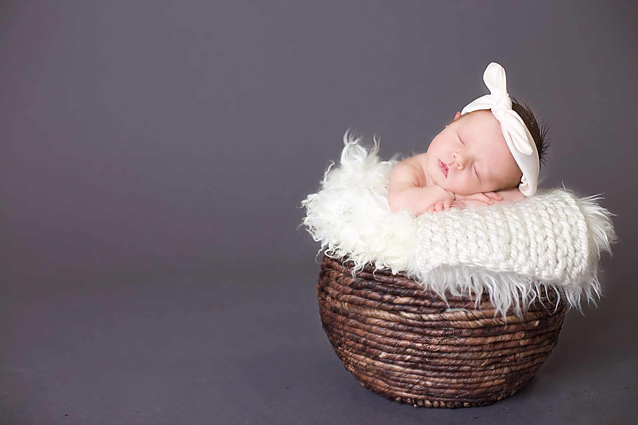 Baby girl, newborn, newborn headband