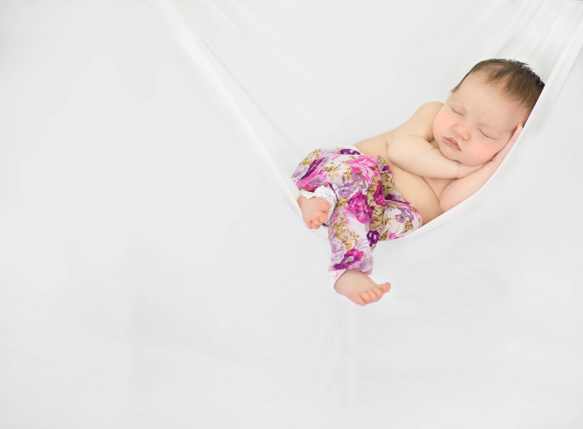 Baby girl in hammock