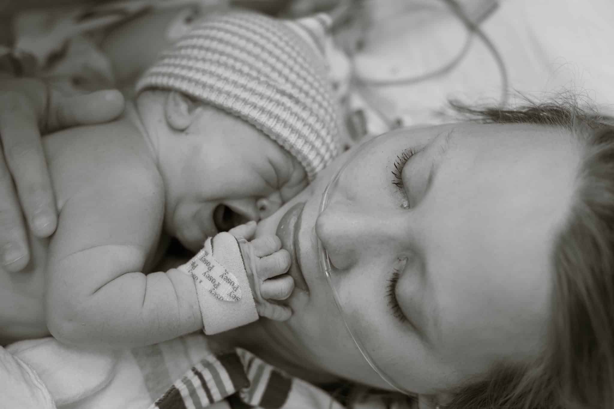 Labor and Delivery maine newborn photography