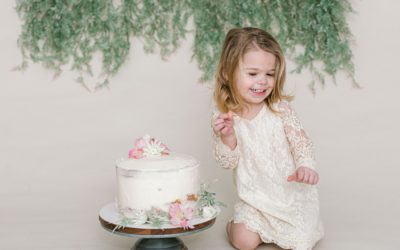 Charlotte's Cake Smash | One Year Photos | Maine Family Photographer