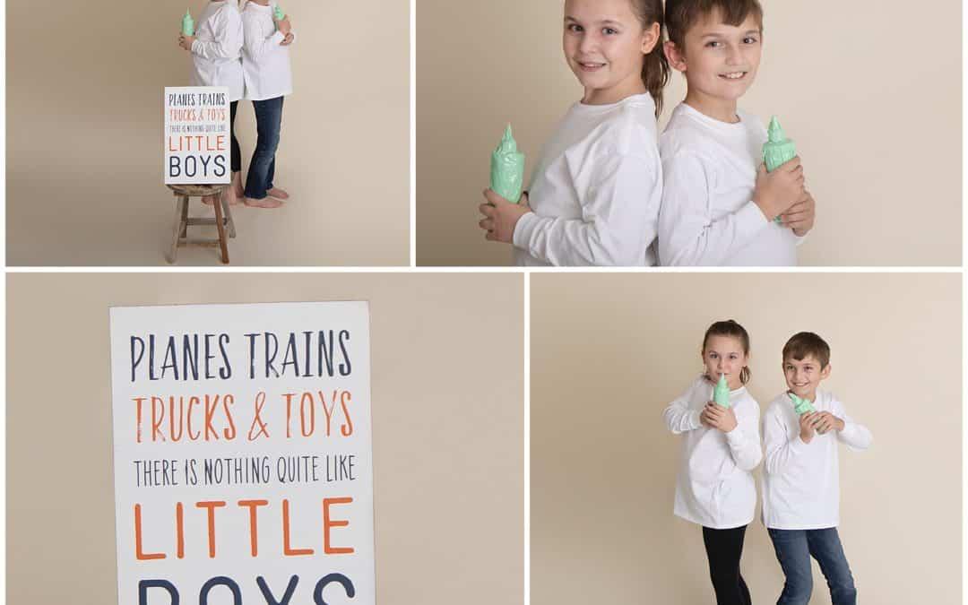 Gender Reveal Paint Fight Between Siblings