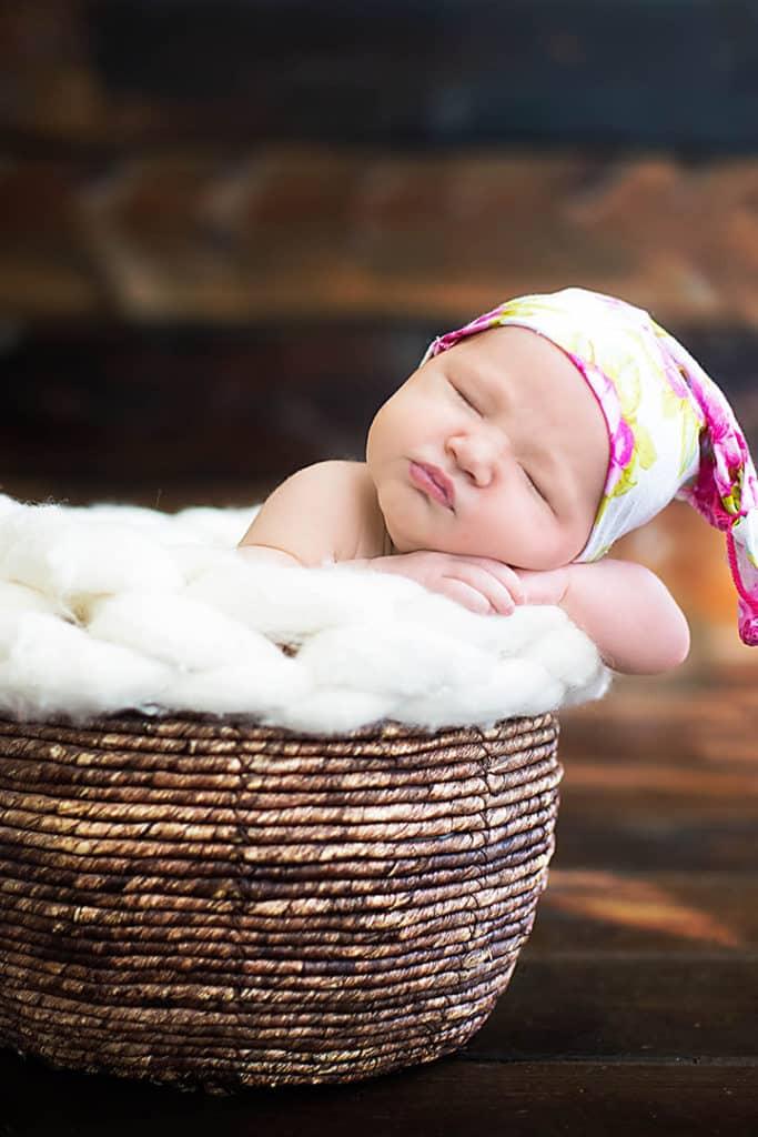 newborn in basket york maine