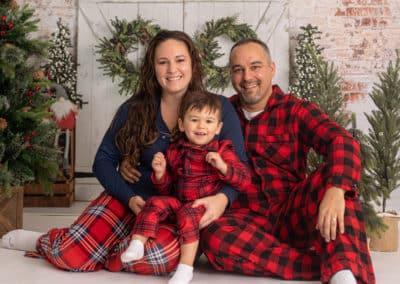 Maine family Christmas pajama photos