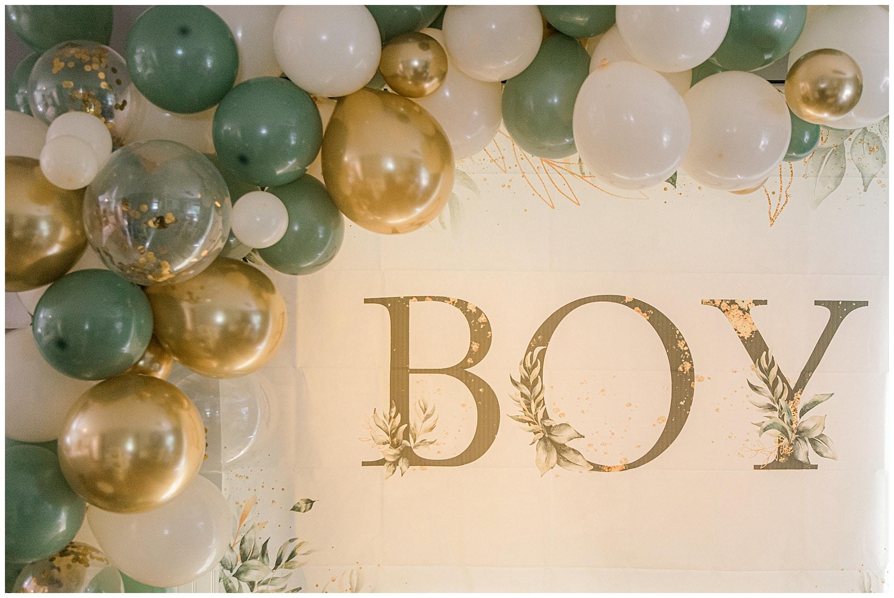 baby shower gender neutral balloon arch
