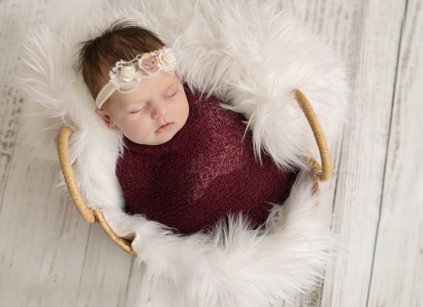 Baby photographer in maine, posed newborn girls, augusta maine studio