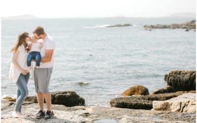 Maine Maternity Photographer | Ocean Point | Boothbay, Maine