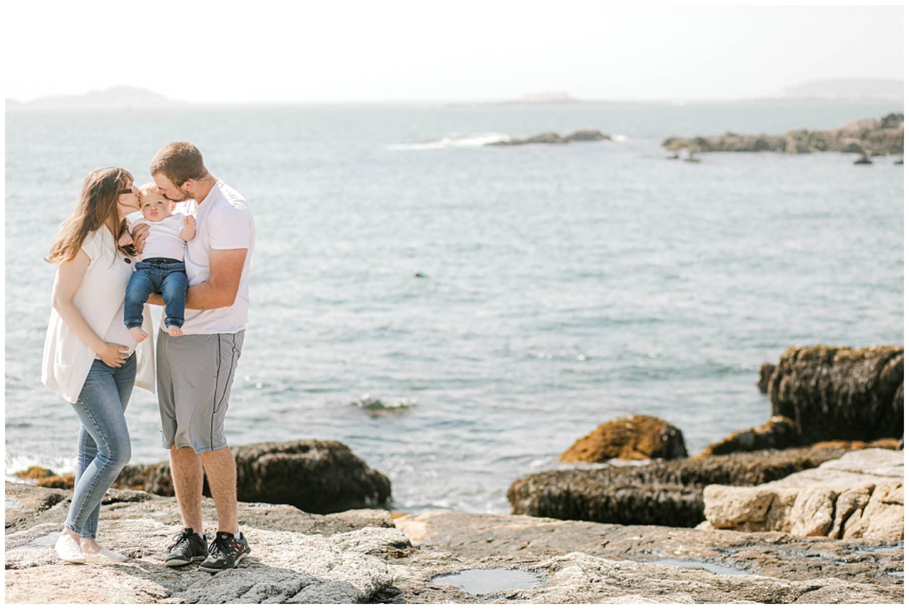 Maine Maternity Photographer, Ocean Point, Boothbay