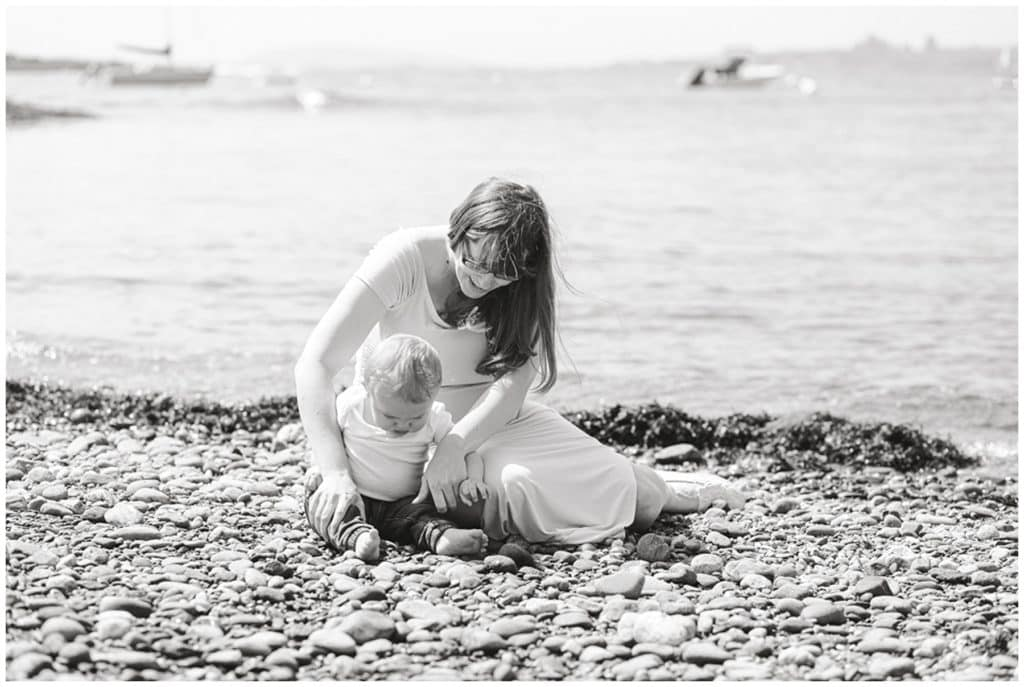 Maine Maternity photographer, Ocean Point, Booth bay Maine, Ocean view