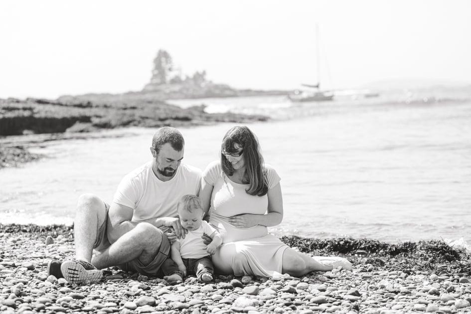 maine Maternity Photographer, Booth bay, Ocean Point